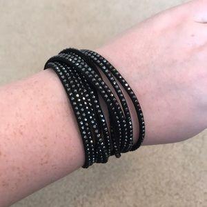 Swarovski Wrap Bracelet- Black